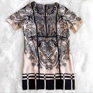 Adrianna Papell Paisley Print Shift Dress M0833